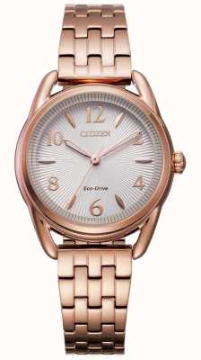 Citizen Montre IP en or rose Eco-Drive Silhouette pour femme FE1213-50A