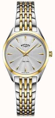 Rotary Montre-bracelet bicolore ultra mince pour femme LB08011/02