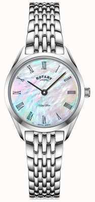 Rotary Montre bracelet en argent ultra mince pour femme LB08010/41