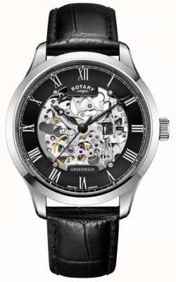 Rotary Hommes | squelette | greenwich | montre automatique GS02940/30