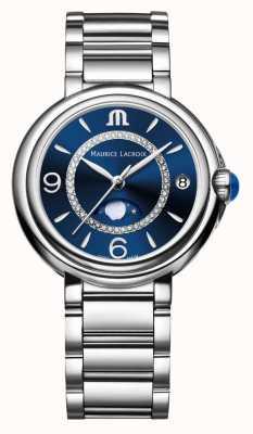 Maurice Lacroix Fiaba Moonphase Ladies Quartz Diamond Acier inoxydable FA1084-SS002-420-1