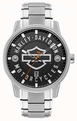Harley Davidson Des hommes pour lui! | bracelet en acier inoxydable | cadran noir 76B182