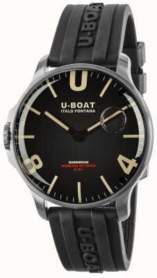 U-Boat Bracelet en caoutchouc Darkmoon 44 mm en acier inoxydable 8463