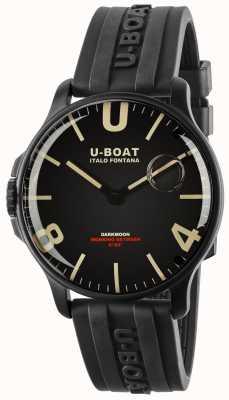 U-Boat Sombrelune 44 mm noir ipb | bracelet en caoutchouc 8464-BLACK