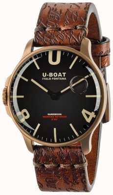 U-Boat Sombrelune 44 mm bronze ip noir | bracelet en cuir 8467-BRONZE