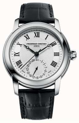 Frederique Constant Homme classique automatique | bracelet en cuir noir | cadran argenté FC-710MC4H6