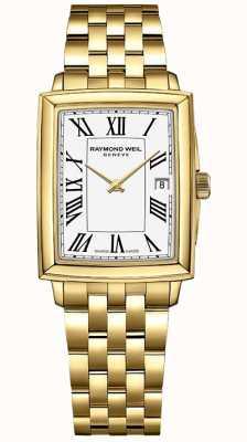 Raymond Weil Toccata pour femmes | bracelet pvd or jaune | cadran blanc | 5925-P-00300
