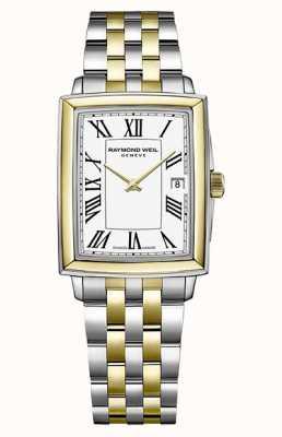 Raymond Weil Toccata pour femmes | bracelet en acier bicolore | cadran blanc 5925-STP-00300