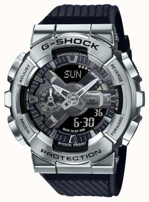 Casio G-shock | bracelet en résine texturée | cadran argenté | horaire international GM-110-1AER