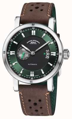 Muhle Glashutte Teutonia sport ii | bracelet vintage marron M1-29-74-LB-B