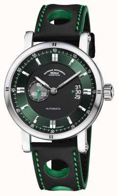 Muhle Glashutte Teutonia sport ii | bracelet de course noir M1-29-74-LB-S