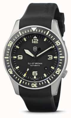 Elliot Brown Holton automatique | bracelet en caoutchouc noir | étui sablé à la vapeur 101-A11-R01