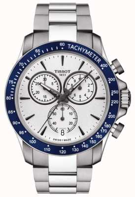 Tissot Mens V8 Quartz Chronographe Cadran Blanc Acier Inoxydable T1064171103100