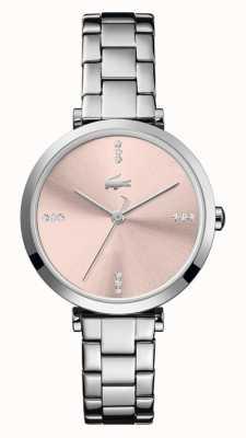 Lacoste | femmes | genève | bracelet en acier inoxydable | cadran rose | 2001145