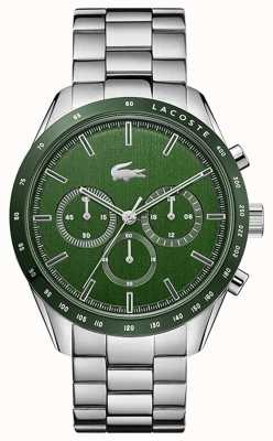 Lacoste | hommes | boston | bracelet en acier inoxydable | cadran vert | 2011080