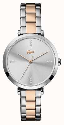 Lacoste | femmes | genève | bracelet en acier bicolore | cadran argenté / blanc | 2001143