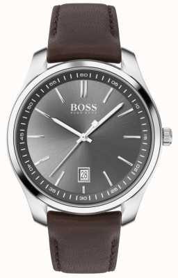 BOSS   hommes   coffret cadeau   circuit   bracelet en cuir marron 1570083