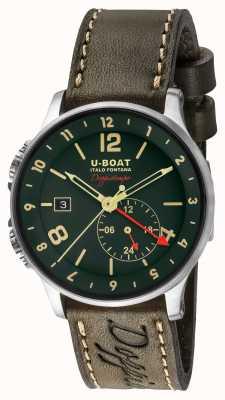 U-Boat 1938 Doppiotempo cadran vert double heure 8500