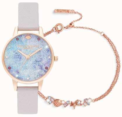 Olivia Burton Sous la mer | coffret cadeau montre et bracelet | lilas OBGSET142