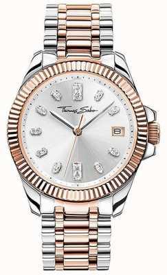 Thomas Sabo | femmes | divine | bracelet en acier bicolore | cadran argenté | WA0371-277-201-33