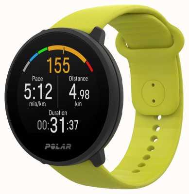 Polar | unir | bracelet en silicone vert citron | étui noir | 90083111