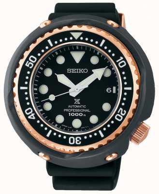 Seiko Prospex pour hommes | bracelet en silicone noir | cadran noir | SLA042J1