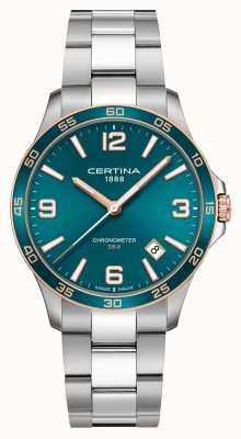 Certina Ds-8 | bracelet en acier inoxydable | cadran vert | quartz C0338512109700