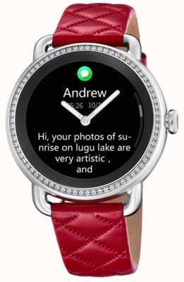 Festina Smartime | bracelet en cuir rouge | écran couleur | bracelet en cuir noir supplémentaire F50000/3