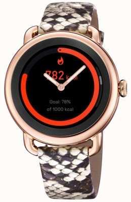 Festina Smartime | bracelet en cuir imprimé pour femme | boîtier en or rose | bracelet rose supplémentaire F50001/2