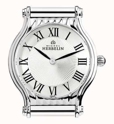 Michel Herbelin Antarès   cadran de montre en acier inoxydable uniquement   chiffres romains H.17447/08
