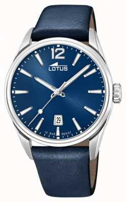 Lotus Bracelet en cuir bleu pour homme   cadran bleu L18693/1