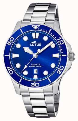Lotus Bracelet homme en acier inoxydable | cadran bleu L18759/1