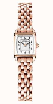 Michel Herbelin Art déco | bracelet plaqué or rose pour femme | cadran blanc 17438/PR22B