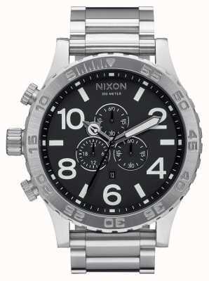 Nixon 51-30 chrono | noir | bracelet en acier inoxydable | cadran noir A083-000-00