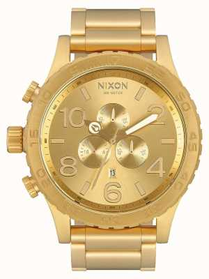 Nixon 51-30 chrono | tout l'or | bracelet ip or | cadran en or A083-502-00