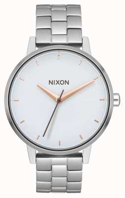 Nixon Kensington | argent / blanc / or rose | bracelet en acier inoxydable | cadran blanc A099-3029-00