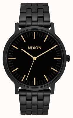 Nixon Porter | tout noir / or | bracelet en acier ip noir | cadran noir A1057-1031-00