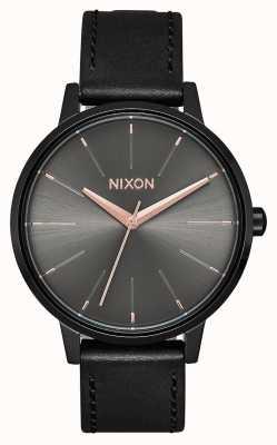 Nixon Cuir Kensington | noir / bronze | bracelet en cuir noir A108-1420-00