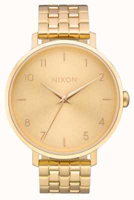 Nixon Flèche | tout l'or | bracelet en acier ip or | cadran en or A1090-502-00