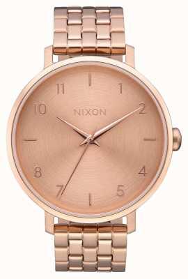 Nixon Flèche | tout en or rose | bracelet en acier ip or rose | cadran en or rose A1090-897-00