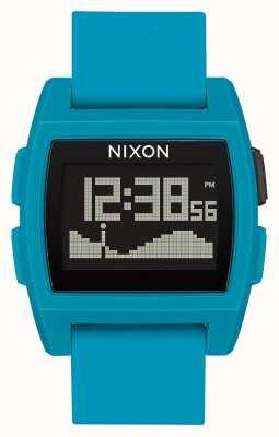 Nixon Marée de base | résine bleue | numérique | bracelet en silicone bleu A1104-2556-00