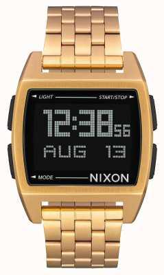 Nixon Base | tout l'or | numérique | bracelet en acier ip or A1107-502-00