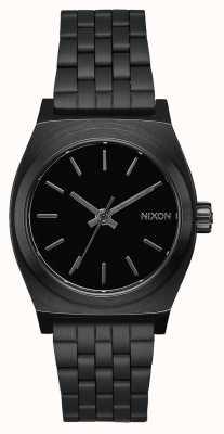 Nixon Caissier moyen | tout noir | bracelet en acier ip noir | cadran noir A1130-001-00
