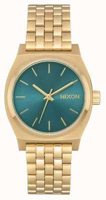 Nixon Caissier moyen | or clair / turquoise | bracelet en acier ip or A1130-2626-00