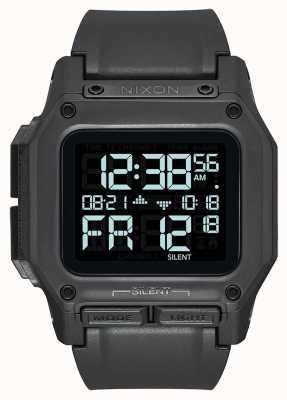 Nixon Regulus | tout noir | numérique | bracelet en tpu noir A1180-001-00