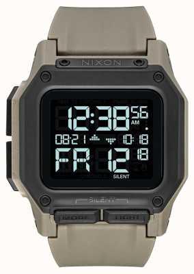 Nixon Regulus | tout sable | numérique | bracelet en tpu couleur sable A1180-2711-00