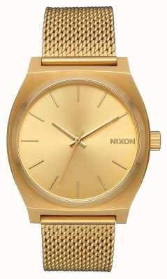 Nixon Time Teller milanese | tout l'or | maille en acier ip or | cadran en or A1187-502-00