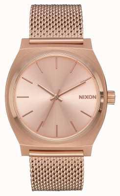 Nixon Time Teller milanese | tout en or rose | maille ip or rose | cadran en or rose A1187-897-00