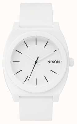 Nixon Time Teller p | blanc mat | bracelet en silicone blanc | cadran blanc A119-1030-00