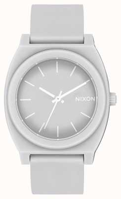 Nixon Time Teller p | gris froid mat | bracelet en silicone gris | cadran gris A119-3012-00